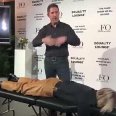 Julianne Hough getting an 'energy treatment' at the World Economic Forum in Switzerland