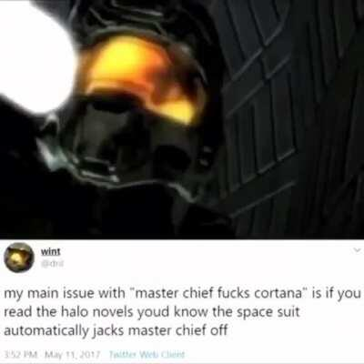 no master chief dont use twitter