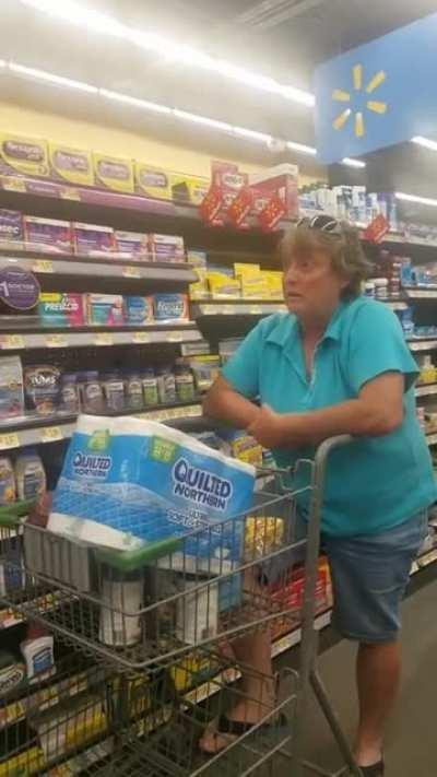 Just you know an old Karen being racist at Walmart