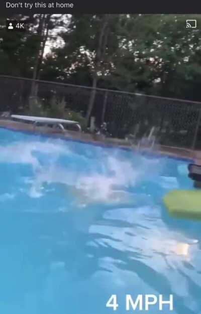 Treadmill water diving