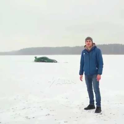 WCGW drifting on ice