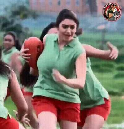 Who wants to play with Hansika's footballs?