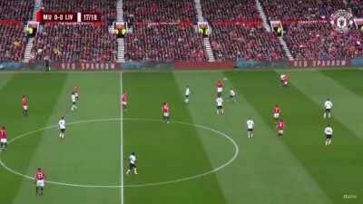 Rashford's amazing goal against Liverpool 17/18