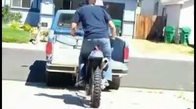 Trying to put a bike on the back of a pickup