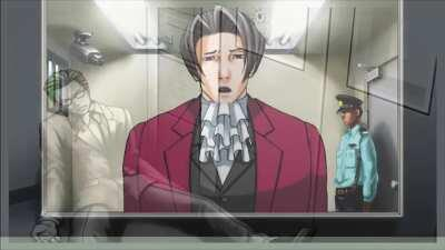Edgeworth gets depresso and sings the sad Yakuza song oh nooooooo why did you present that Peenis
