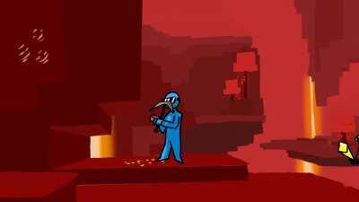 Dani Minecraft speedrun go brrrrrrr (animation)