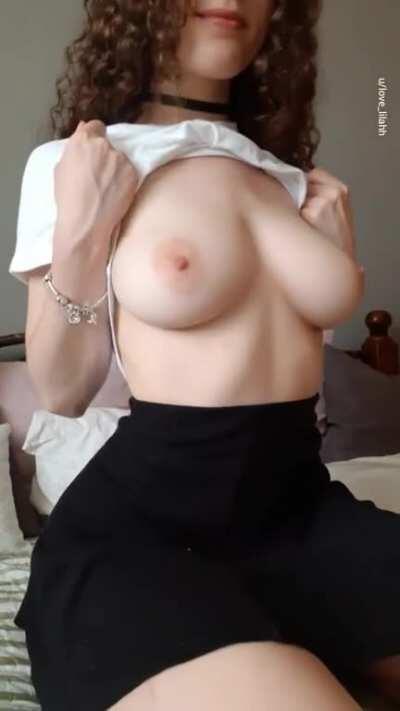 Do you like the way my soft boobs drop? :)