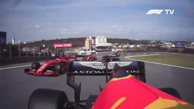Safety car restart with Max at Interlagos