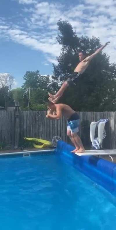 Diving board stunts WCGW