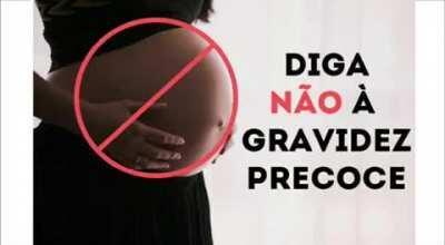 Diga não à gravidez precoce!