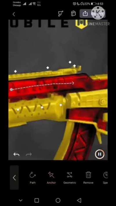 Creating and Animating a skin concept. Turning the KN44 into Crimson Gold