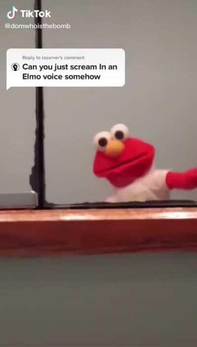 Elmo. (Video is not mine and belongs to its rightful owner)
