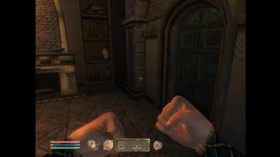 How to wake people up in oblivion without the hassle of pressing E twice.