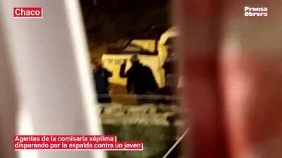 La policía de Capitanich disparando por la espalda