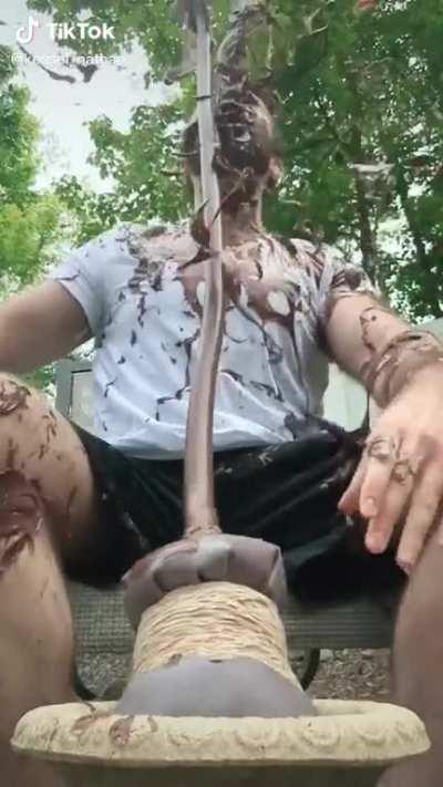 Guy Gets Drowned In Chocolate Milk