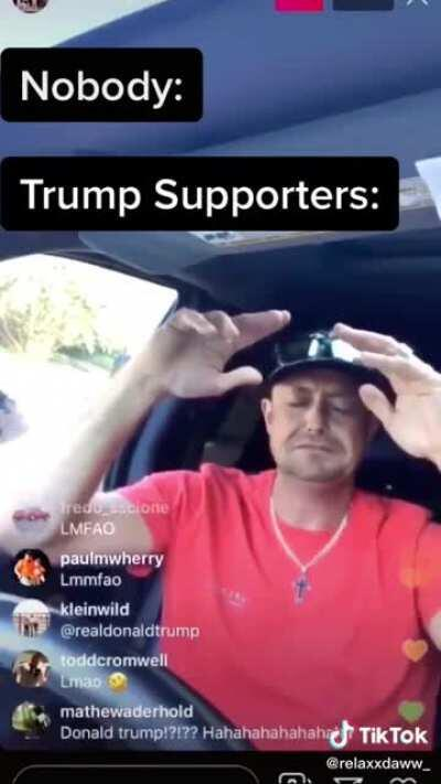 Guy starts crying and praying for Donald Trump to save him while police surround his truck
