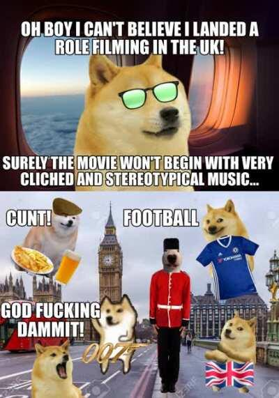 Le British people have arrived