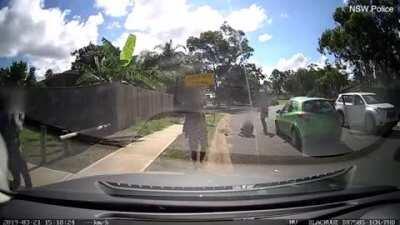 Kid goes yeet because of car