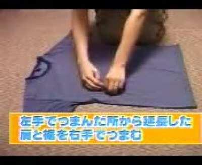 How to fold shirts ultra fast