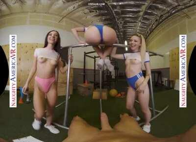 "Aiden Ashley, Jazmin Luv, Lily Larimar in ""Sam Shock In Gym"" by Naughty America VR"