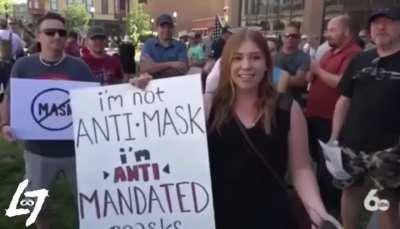 Anti maskers are crazy