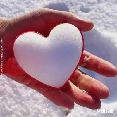 Who doesn't love heart shaped snowballs?