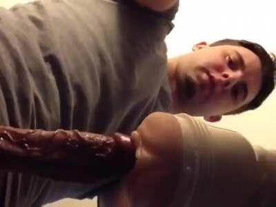 Bro loves to show off when fucking his fleshlight