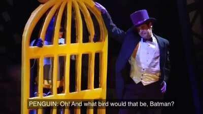 Guess Batman's a bird lover...