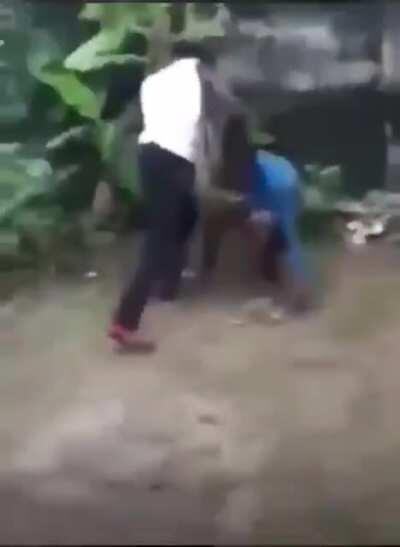 Caught a bitch ass do boy lacking