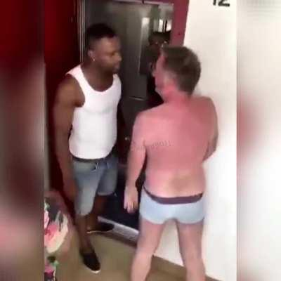 Getting slapped after spitting on a guy