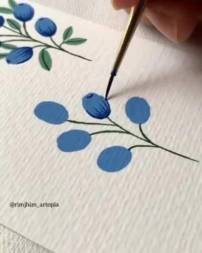 Handmade watercolor pattern, beautiful work