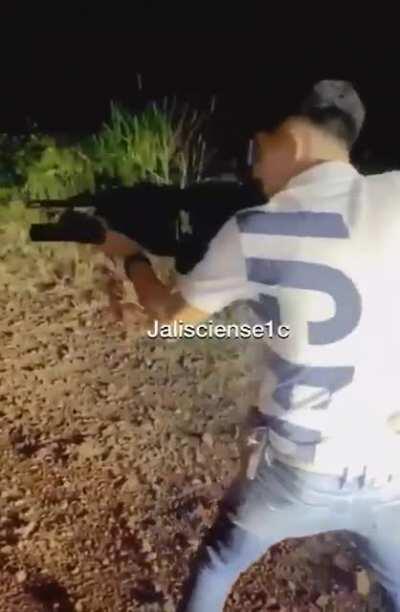 William alvarez aka EL MANACIO FROM CARTELES UNIDOS letting off some rounds