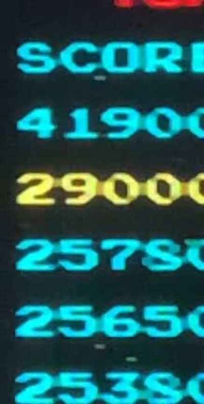 The most frustrating Galaga high score