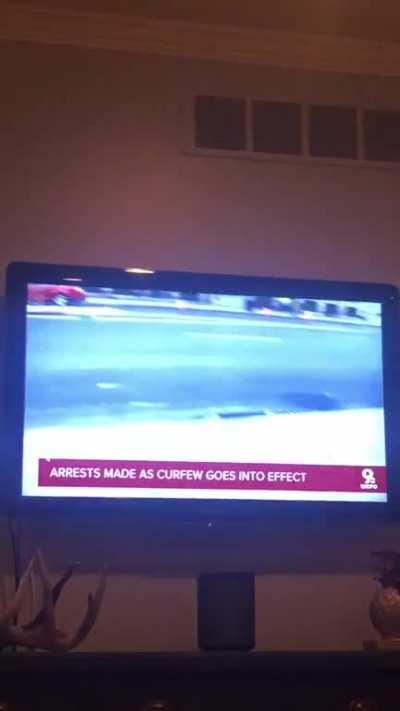 Cincinnati reporter hit in the back with a bottle of Hennessey