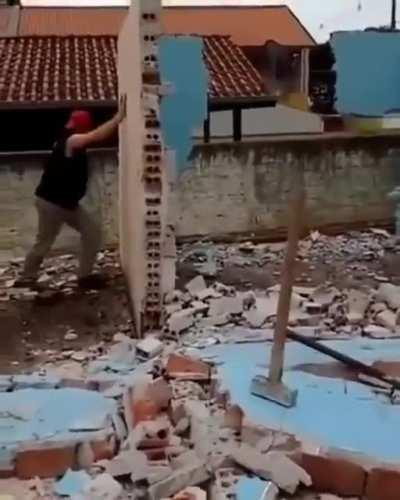 HMFT after I push this wall over.