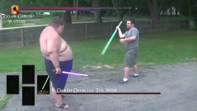 Darth Diabetus, The Wide Status: Super Strength, High damage. Weakness: Arm damage, Fall damage and Slow movement