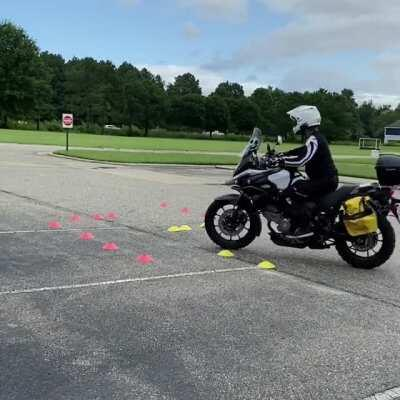 Practice makes you better. Watch me drop my bike a lot.