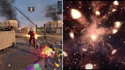 I love the gun and how it works, the design and animation but I wish effect 1-2 could have more similarities as you guys posted on the kill effects. Specially 1 as all it is a Huge meteor falling on him. and 2nd is just simple explosion with huge meteors.