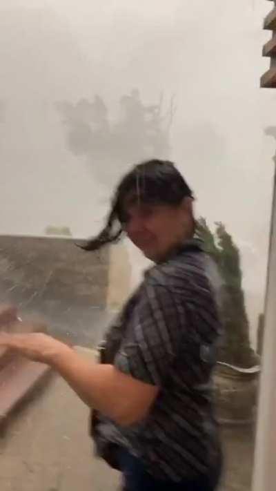 Storm in Romania yesterday