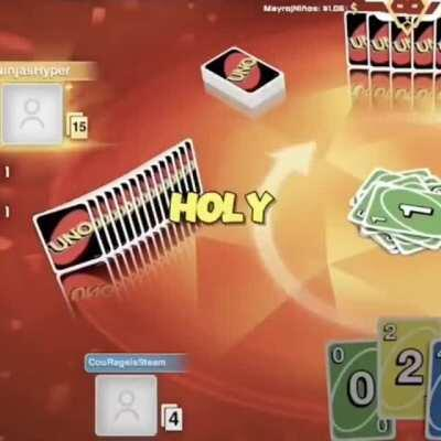 Uno player struggles to get a green card