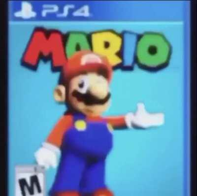 Super Mario on the PS4