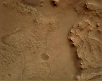 NASA Perseverance Rover descent camera footage of landing on Mars