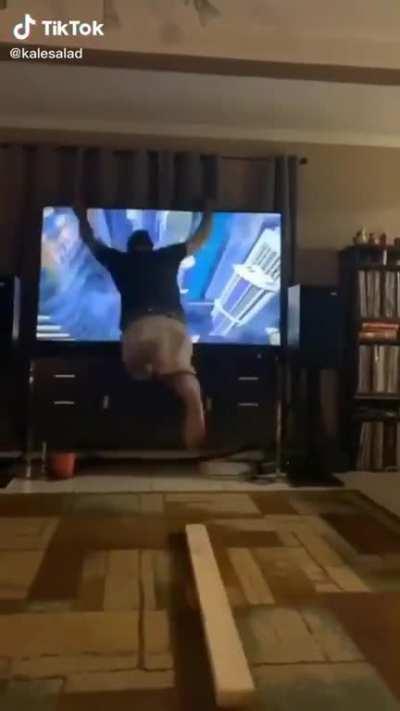 Dad says no TV