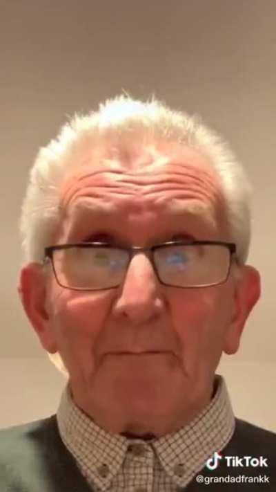 Grandpa doing the M to the B