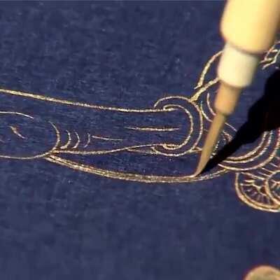 Kim Gyeong-ho, the national master of sagyeong: The art of writing Buddhist.