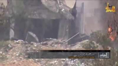 Video released by Jabhat al-Nuṣrah titled Beginning of the End #15 [Syria] (August, 2013) Features an SVBIED attack