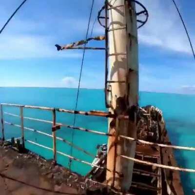 Just a casual 70ft send off a shipwreck