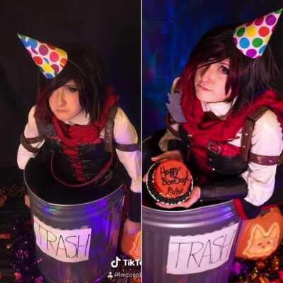 Happy Birthday Ruby - Trash Ruby cosplay by Mangoloo