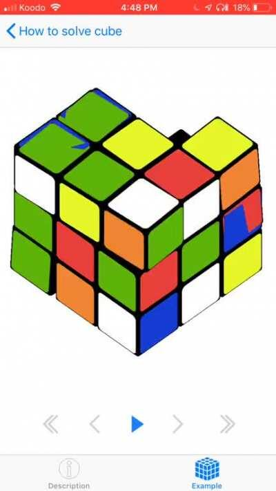 But what if my Rubik's cube can't do this?