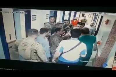 A doctor gets assaulted by members of the Lebanese army